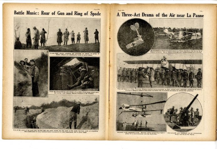 1916 WW1 Magazine FLANDERS Kilimanjaro GENERAL SMUTS Alps TRENCHES France NEWSPAPER (9900)